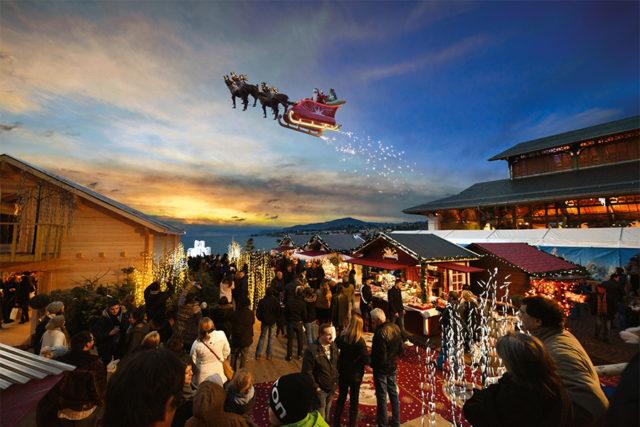 Le marché de Noël à Montreux